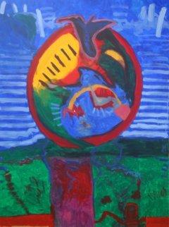 Awakening Flower Responding to Morning Glory 2011 78x59 Super Huge Original Painting - Theos Sijrier