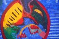 Awakening Flower Responding to Morning Glory 2011 78x59 Super Huge Original Painting by Theos Sijrier - 2