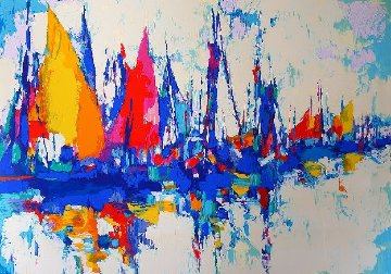 Blue Marina 1986 Limited Edition Print by Nicola Simbari
