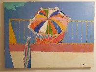 Terrace in Capri 1964 22x30 Original Painting by Nicola Simbari - 2