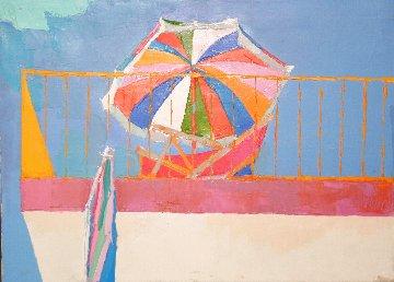 Terrace in Capri 1964 22x30 Original Painting - Nicola Simbari