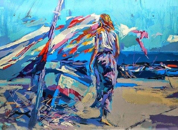Ostia Beach 1981 by Nicola Simbari