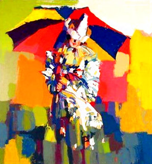 Clown a l'ombrelle 1979 Limited Edition Print - Nicola Simbari