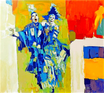 Deux Clowns 1979 Limited Edition Print - Nicola Simbari