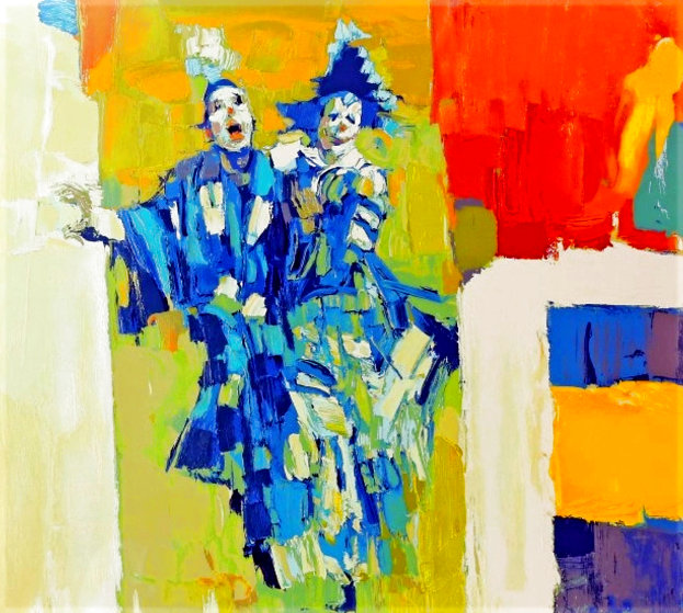 Deux Clowns 1979 Limited Edition Print by Nicola Simbari