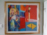 Red Room 44x44 Huge Original Painting by Nicola Simbari - 1