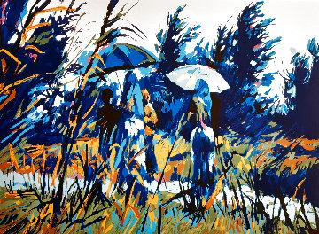 Les Parapluies 1980 Limited Edition Print - Nicola Simbari