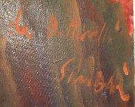 Da Botticelli 43x51 Huge Original Painting by Nicola Simbari - 4