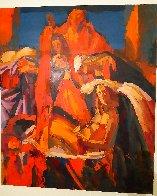 Da Botticelli 43x51 Huge Original Painting by Nicola Simbari - 1