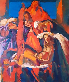 Da Botticelli 43x51 Huge Original Painting - Nicola Simbari