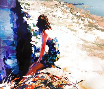 On the Seawall 1980 Limited Edition Print - Nicola Simbari