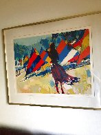 Girl With Sailboats 1978 Limited Edition Print by Nicola Simbari - 1
