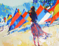 Girl With Sailboats 1978 Limited Edition Print by Nicola Simbari - 0