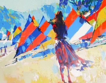 Girl With Sailboats 1978 Limited Edition Print - Nicola Simbari