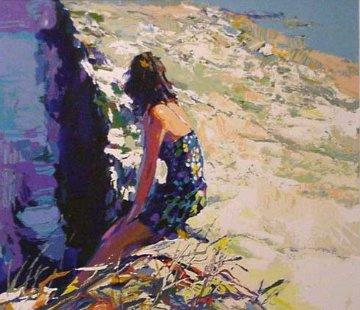 On The Sea Wall 1980 Limited Edition Print - Nicola Simbari