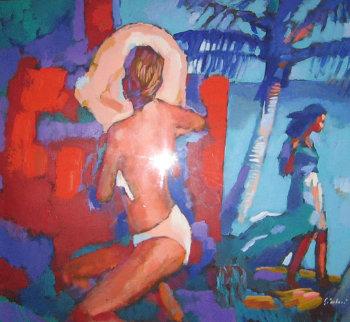 Seaside Shade 42x48 Original Painting by Nicola Simbari