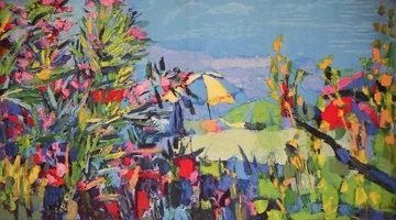 Ischia Wool Tapestry 1971 44x76  Tapestry - Nicola Simbari