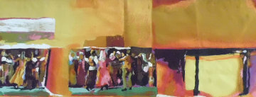 Fiddler on the Roof Tapestry 40x80 Huge Tapestry - Nicola Simbari