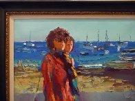 Terracina - Fare La Passegiata, Italy 1970 31x39 Huge Original Painting by Nicola Simbari - 4
