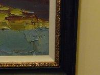 Terracina - Fare La Passegiata, Italy 1970 31x39 Huge Original Painting by Nicola Simbari - 1