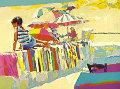 Boy On A Beach Towel Limited Edition Print - Nicola Simbari
