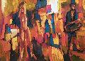 Circus Girl 1990 40 x 27 Original Painting - Nicola Simbari