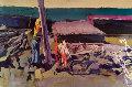 Sea 1990 19x26 Original Painting - Nicola Simbari