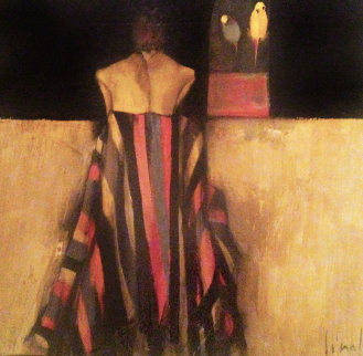 Love Birds 1957 35x40 Original Painting by Nicola Simbari