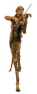 Fiddler Bronze Sculpture 2009 30 in Sculpture - Gib Singleton