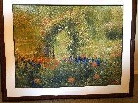 Flower Garden 39x48 Super Huge Works on Paper (not prints) by Greg Singley - 1