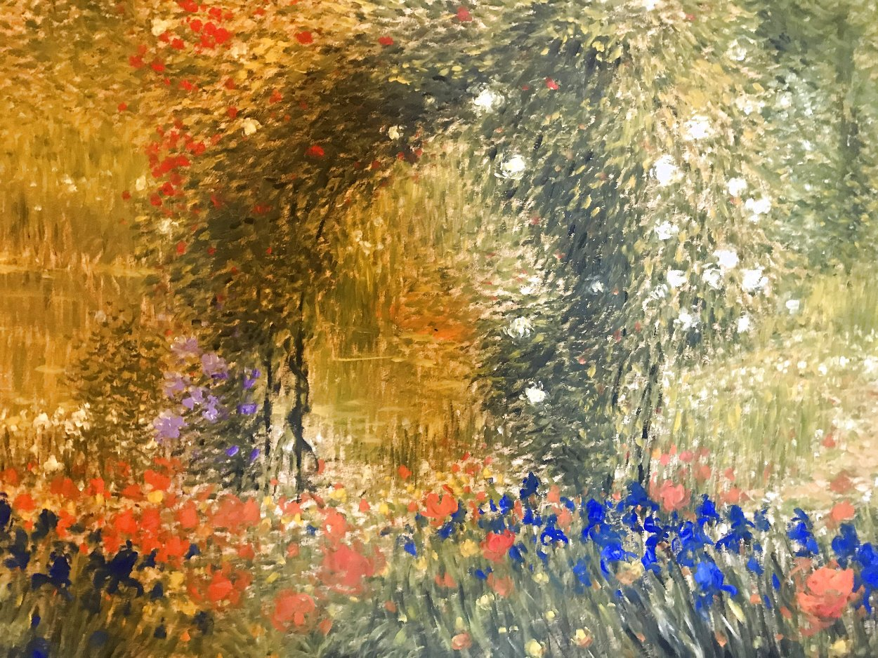 Flower Garden 39x48 Super Huge Works on Paper (not prints) by Greg Singley