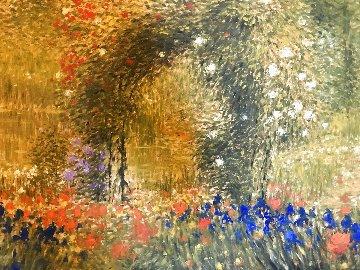 Flower Garden 39x48 Huge Works on Paper (not prints) - Greg Singley
