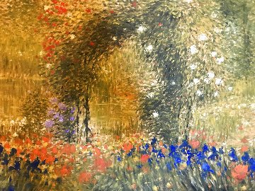 Flower Garden 39x48 Super Huge Works on Paper (not prints) - Greg Singley