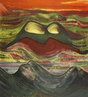 Phosphorescent Volcano 1969 Limited Edition Print - David Alfaro Siqueiros