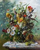 Bouquet of Flowers 2016 47x39 Super Huge Original Painting by Gyula Siska - 0