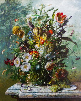 Bouquet of Flowers 2016 47x39 Super Huge Original Painting - Gyula Siska