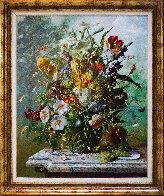Bouquet of Flowers 2016 47x39 Super Huge Original Painting by Gyula Siska - 1
