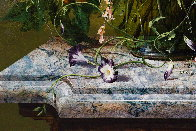 Bouquet of Flowers 2016 47x39 Super Huge Original Painting by Gyula Siska - 3