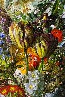 Bouquet of Flowers 2016 47x39 Super Huge Original Painting by Gyula Siska - 5