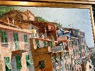 Cinqueterre 1984 52x64 Super Huge Original Painting by Jaro Slavko - 3