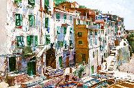 Cinqueterre 1984 52x64 Super Huge Original Painting by Jaro Slavko - 0