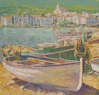 Cadaques (Home of Salvador Dali) 52x52  1990 Original Painting - Jaro Slavko