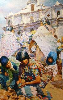 Untitled  (Mexico) 1993 78x56 Huge Original Painting - Jaro Slavko