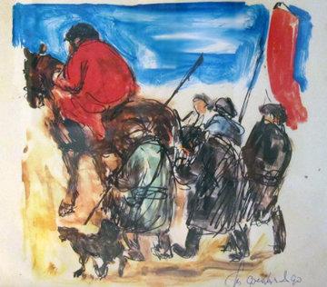Le Retour De La Chassa Original Painting - Anatoly   Slepyshev