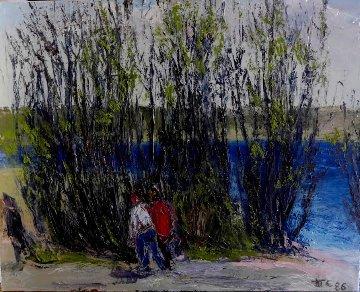 Untitled Painting 1986 31x39 Original Painting - Anatoly   Slepyshev