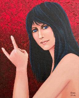 Palo Alto Grace 2007 31x27 Original Painting - Grace Slick