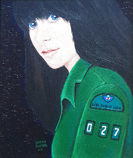 Girl Scout 2003 18x16 Original Painting - Grace Slick