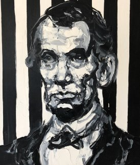 Lincoln 2014 33x29 Original Painting - Hunt Slonem