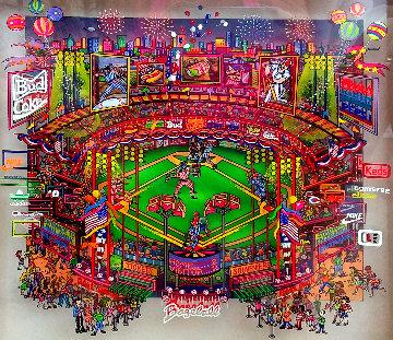 Bottom of the Ninth 1997 21x21 Original Painting - Susannah MacDonald