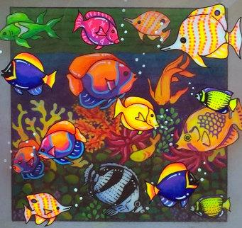 Creatures of the Sea 2001 7x7 Original Painting by Susannah MacDonald